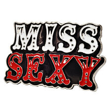 MISS SEXY Enamel Painted Belt Buckle Cute Girly Unique Metal New Hip Cool