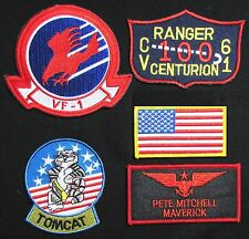 TOP GUN MAVERICK PETE MITCHELL US NAVY NAME TAG FLIGHT JACKET IRON 5 PATCH SET