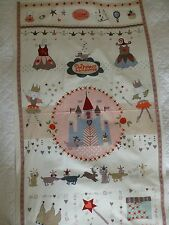 "COT QUILT SWEET PRINCESS Fabric Large Panel Cotton Craft Quilting 24"" x 44"""
