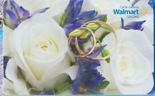 Walmart WEDDING RINGS + flowers GIFT CARD FROM CANADA BILINGUAL NO CASH VALUE !