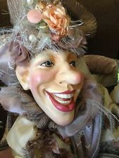 "Fanciful Retired Jester Doll by Wayne Kleski Large 35"" Tall"