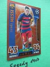 Topps Champions League 2015 16 limited Edition Messi Bronze Bronce limitiert