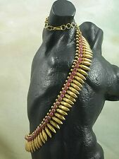 18kt Yellow Gold 62 Burmese Ruby Cabochon 14.88cts Cleopatra Collar Necklace