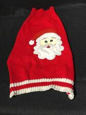 Dog Christmas  Sweater Red White Medium Cat Chiwawa Holiday Ugly Santa  Claus