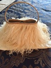 100% Genuine Ostrich Feathers and Leather Luxury Handbag