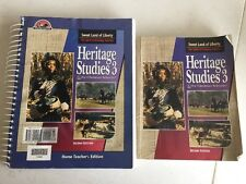 Lot of 2 Heritage Studies 3, Sweet Land of Liberty, 2nd edition, BJU, Homeschool