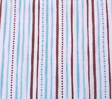 Shine Bright Stacey Yakula BTY Quilting Treasure Teal Brown Dotted Stripe White