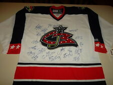 Columbus Blue Jackets Team Signed Jersey CCM Size XL 20 Autographs NWT NHL