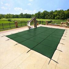 Yard Guard Deck Lock Rectangle Mesh 18'x36' Inground Swimming Pool Safety Cover