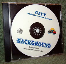 "56011 MODEL RAILROAD SOUND EFFECTS AUDIO CD ""CITY NIGHT STEAM"""