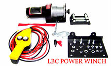 12 V  2000LB Cap. Power Cable Winch Kit  truck trailer  Boat with Remote Control