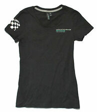 MERCEDES AMG PETRONAS FLAG BLACK BABYDOLL GIRLS T-SHIRT XS NEW OFFICIAL