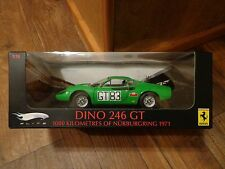 1:18 SCALE--HOT WHEELS ELITE--GREEN FERRARI DINO 546 GT CAR (NEW) LIMITED ED.