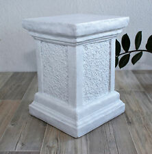 Pillar in Antique white,Stand for figures,Stele Garden Decoration Stone