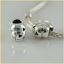 PUMPKIN HALLOWEEN solid 925 sterling silver charm bead fit European bracelet