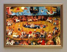 Hieronymus Bosch Der Garten der Lüste Ausschnitt Büttenfaksimile 4 im Goldrahmen
