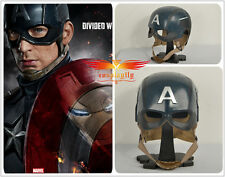 Captain America Civil War Steve Roger Wearable Helmet Cosplay Prop Hat FRP