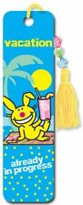its happy bunny vacation Collectors Beaded Bookmark
