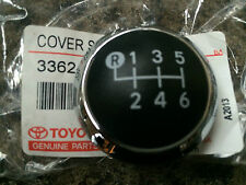 GENUINE TOYOTA AVENSIS 2009 GEAR KNOB CHROME CAP TOP ONLY 6 SPEED 2009