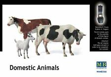 MB Masterbox - Domestic Animals Animals 2 Cows + 1 Goat Kuh model kit - 1:35