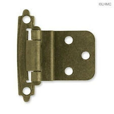 "H0104AL-AB  3/8"" Self Closing Inset Hinge Antique Brass Set of 10"