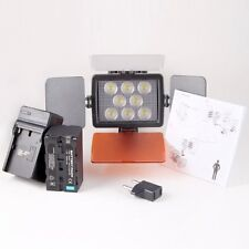 CameraPlus® Universal Professional High Brightness 8 LED Video Light + F750 Batt