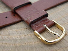Honey Leather 20mm Hirsch Dakota Vintage Mens Gold T Buckle Watch Band Austria