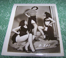 """Vintage Pin Up 4"""" X 5"""" Original Photograph Pin-up Sexy Leggy Photo Lovely Trio 1"""