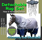 "COMFORT VERSATILE DETACHABLE 2000D 7'0"" WINTER PADDOCK HORSE RUG SET(s"