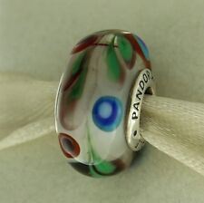 Authentic Pandora 791614 Folklore Murano Glass Sterling Silver Bead Charm