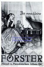 Klavier und Flügel Fabrik Förster Löbau Reklame von 1941 Pianist Sachsen ad +
