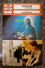 US Musical Singer-Songwriter Movie Fatherland Ken Loach French Film Trade Card