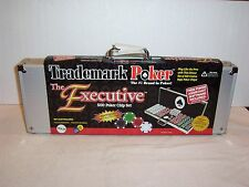 "The Deluxe ""EXECUTIVE"" Trademark 500 poker chip set & case + software & more NWT"