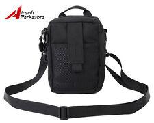 CALDERAGEAR Tactical Military 1000D Cordura Molle Shoulder Sling Pouch Bag Black