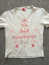 No Added Sugar Boys T Shirt On Best Behaviour Age 7-8