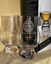 PORT CHARLOTTE TWIN PACK GLENCAIRN TASTING GLASSES WITH TWO WATCH GLASS COVERS