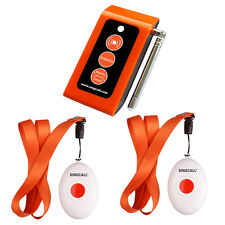 Wireless Calling System Caregiver Two Call Buttons & Caregiver Pager Nurse Alarm