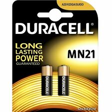 2 BATTERIES PILES DURACELL 12V A23 21 23AE MN21 TELECOMMANDE ALARME - 1 x 2PACK