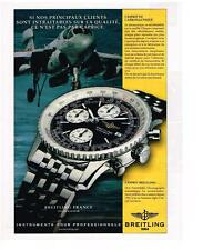 PUBLICITE   1999   BREITLING   collection OLD NAVITIMER montre
