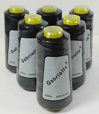 GABRIELLA HAIR EXTENSIONS WEFT COTTON WEAVING THREAD BLACK 6 LOT