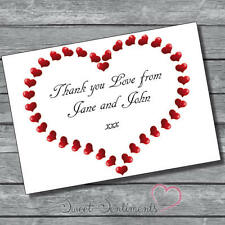 Personalised Cute Engagement Wedding  Thank You Notes Card 10  + Envelopes s8