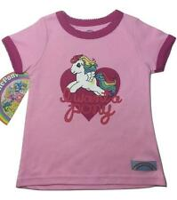 """NEW! SIZE 3T """"I WANT A PONY"""" TODDLERS BABY GIRLS MY LITTLE PONY RUFFLE SHIRT"""