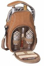 Picnic Plus Brava Wine & Cheese Backpack Set - Camel Suede - PSM-229CM