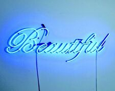 """"""" Beautiful """" Home Wall Lamp Beer Bar Club Gallery Poster Neon Light Sign 12""""x6"""""""