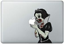 Zombie Snow White Holding Apple MacBook Pro / Air 15 Inch Vinyl Decal Sticker