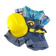Abbigliamento si adatta a Orsacchiotti Build a Bear Costruttore Lavoratore Teddy Vestiti Adatti 15in Orsacchiotti
