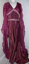 Impresionante señoras Vestido Vestido Disfraz Medieval Renacimiento Maid Marion tronos