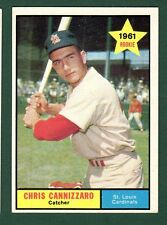 1961 TOPPS BB #118 CHRIS CANNIZZARO/CARDS EX/EX+