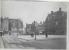 PHOTO 1900 GAND PLACE ST PHARAILDE BELGIUM SCENE DE GENRE GENT BELGIQUE