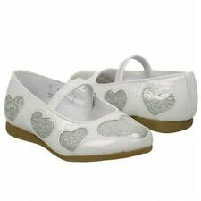 "NEW Toddler's Buster Brown ""Layla"" - WAS $35! - size 7 White/SIlver MJ w/hearts"